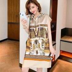 Đầm oversize lụa thời trang - KT2863