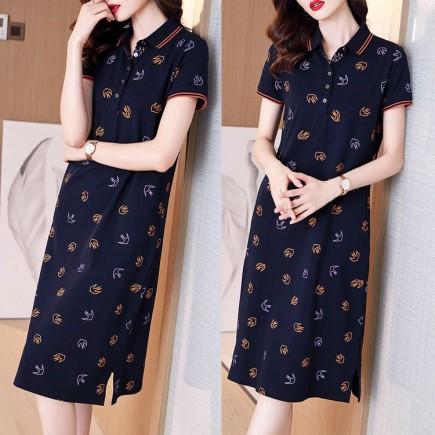 Đầm suông họa tiết - KT3302