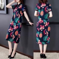 Đầm thun lụa họa tiết - KT3320