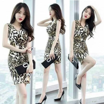 Đầm body họa tiết - KB3371