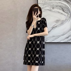 Đầm len hoa cổ bẻ - KV3391