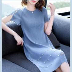 Đầm Suông Đính Hạt Tay Cách Điệu - KT2205