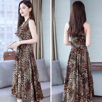 Đầm Xòe Họa Tiết Da Beo - KV2040