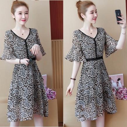 Đầm Beo Tay Loe Phối Ren- KV2142