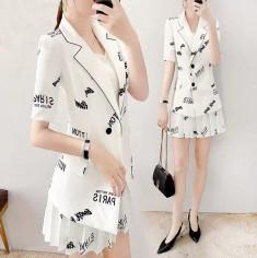Set hai món vest và chân váy tiêu thư - KT2702