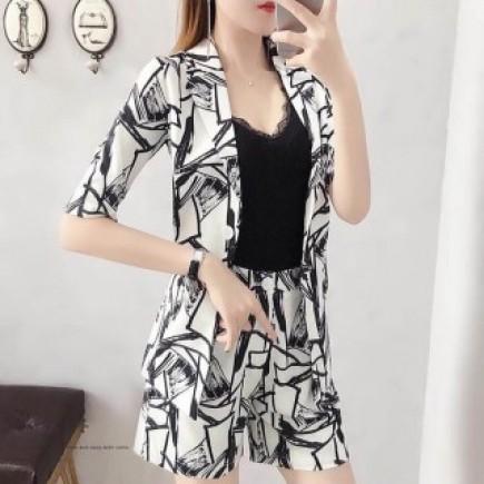 Set Vest In Họa Tiết Cao Cấp - KV2135